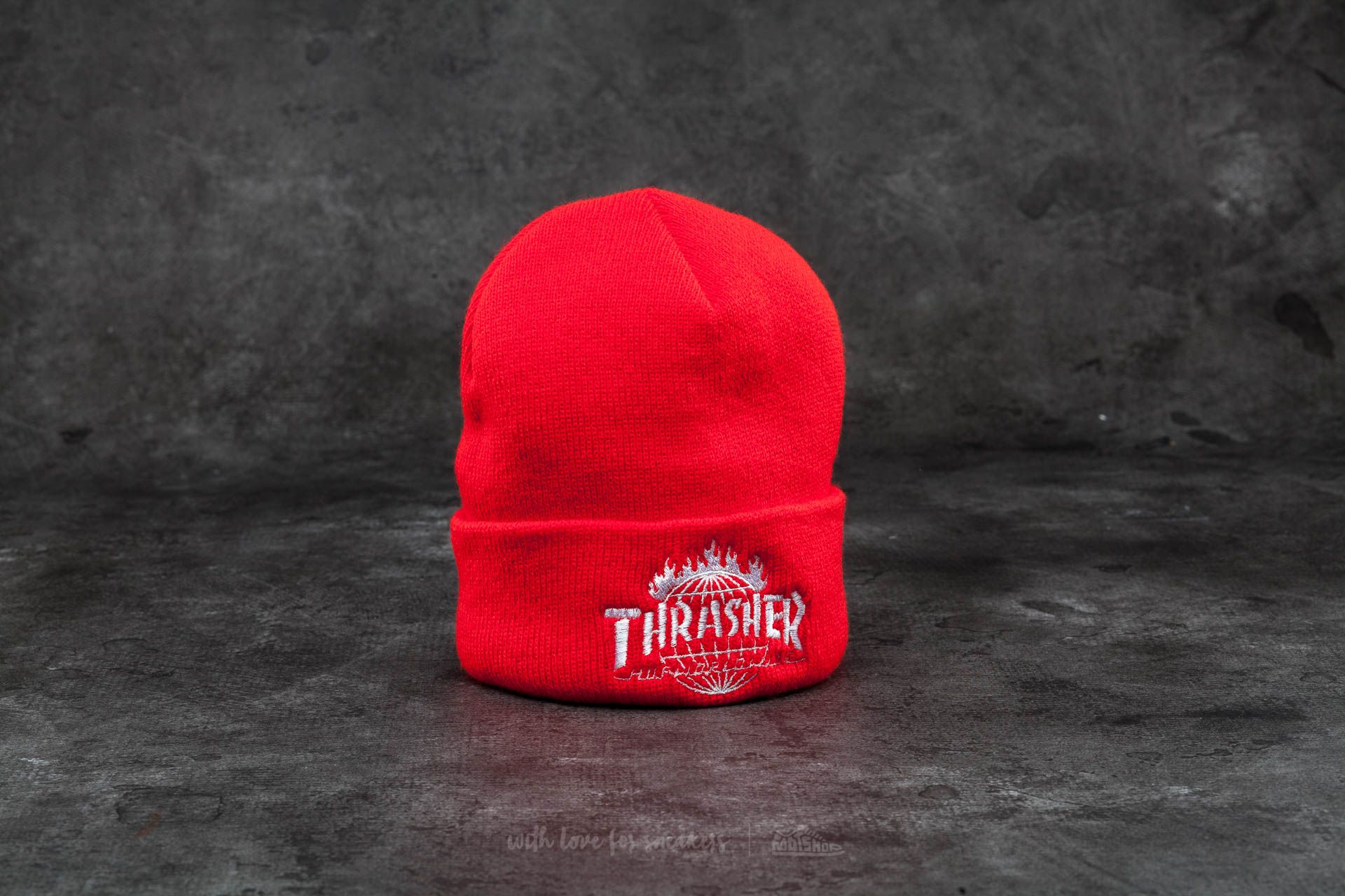 HUF x Thrasher Tour De Stoops Beanie Red - 12287