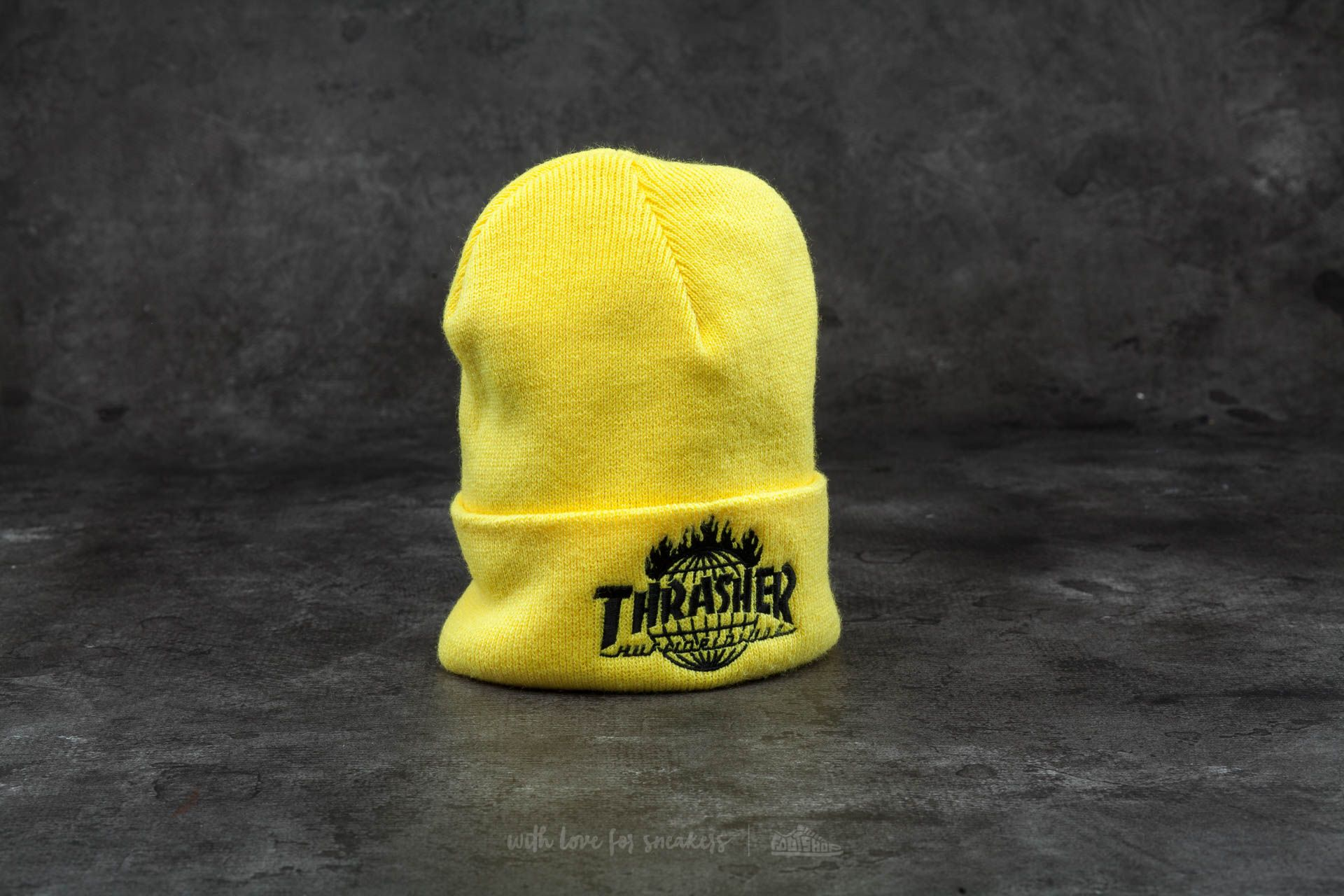 HUF x Thrasher Tour De Stoops Beanie Yellow - 12289