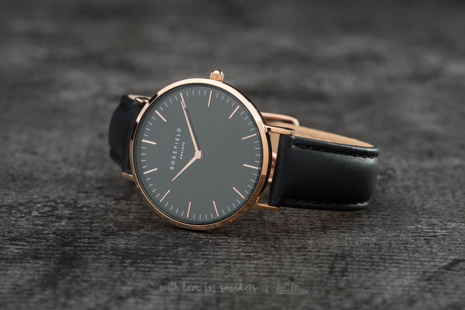 Rosefield The Bowery Rosegold Black/ Black - 11943