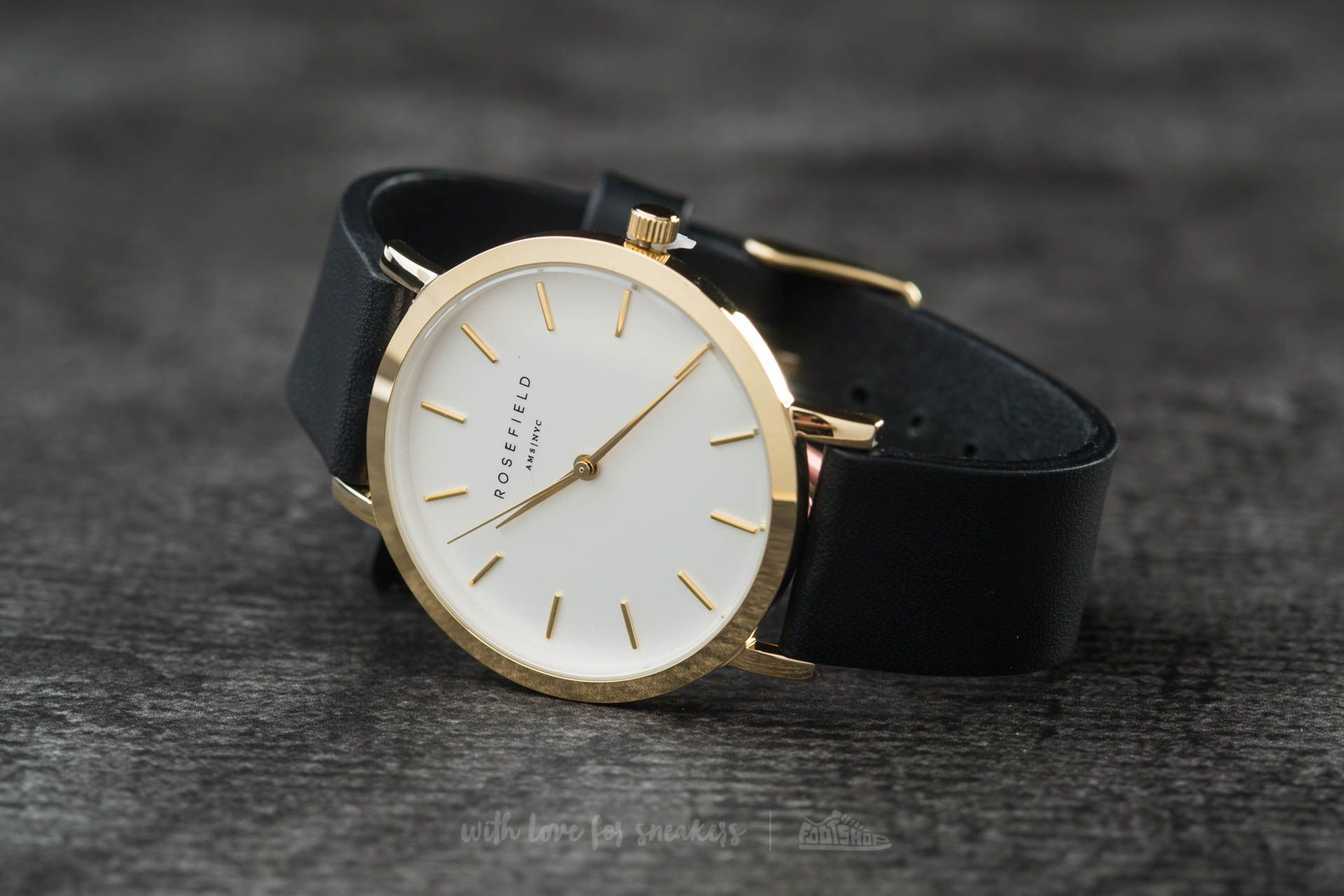 Rosefield The Gramercy Gold White/ Black - 11959