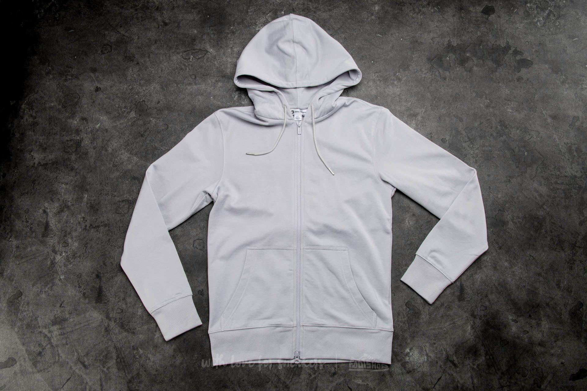 Y-3 Classic Sweat Zip-Up Hoody Light Solid Grey - 12840
