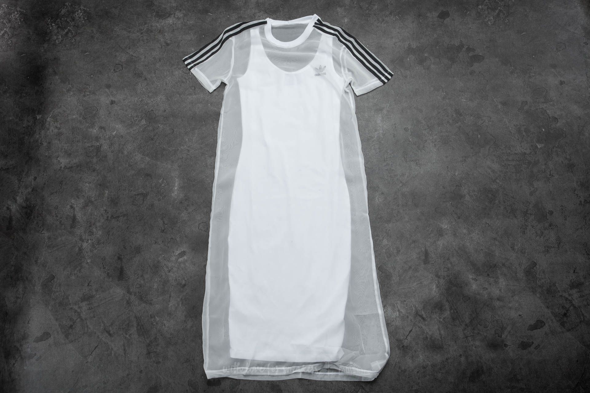 adidas 3 Stripes Layer Dress White - 12767