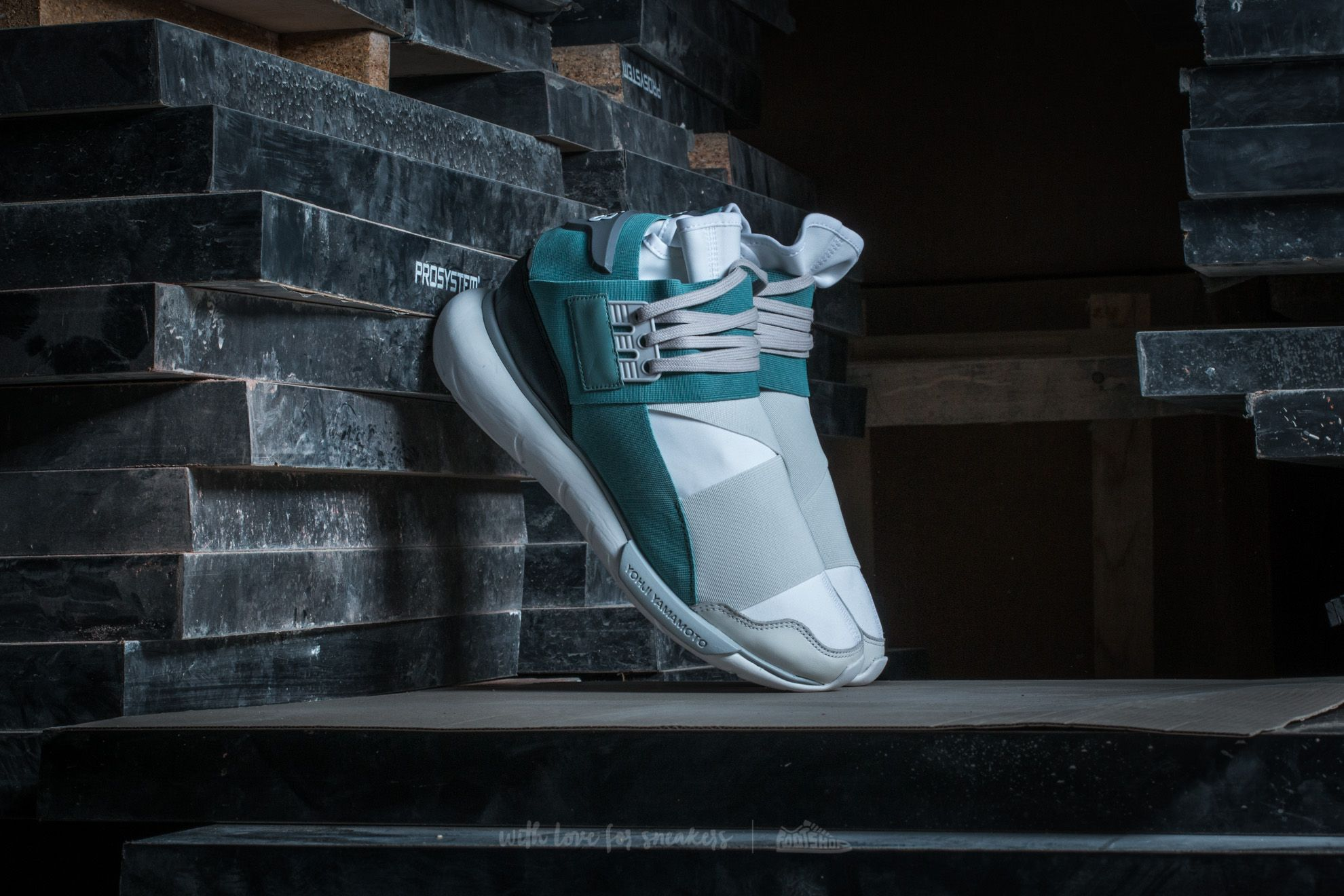 Y-3 Qasa High Crystal White/ Vapour Steel/ Core Black - 12799