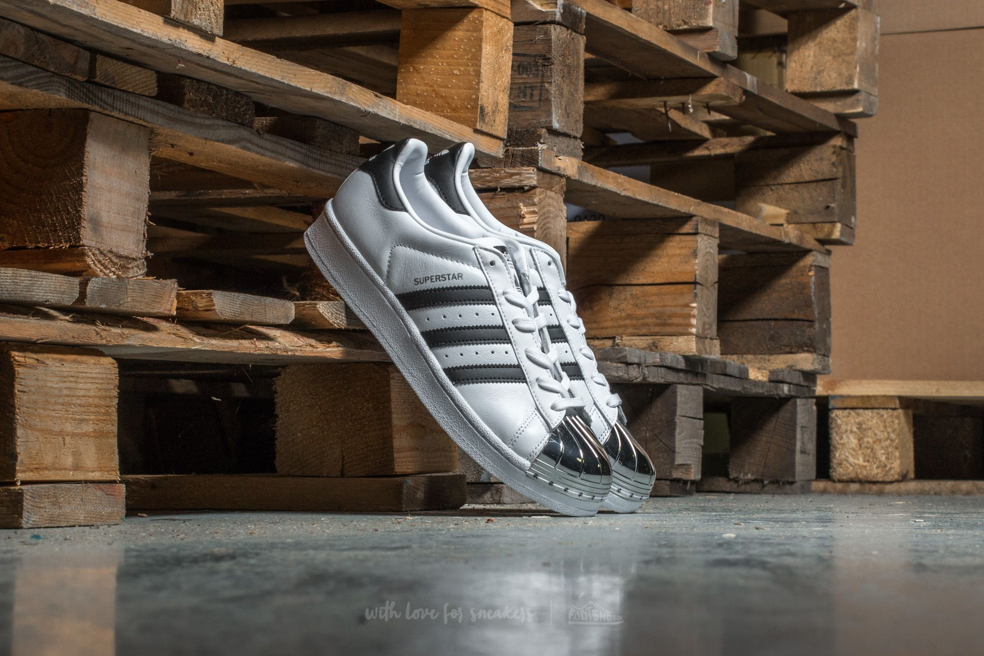 adidas Superstar Metal Toe W Ftw White/ Core Black/ Silver - 12960