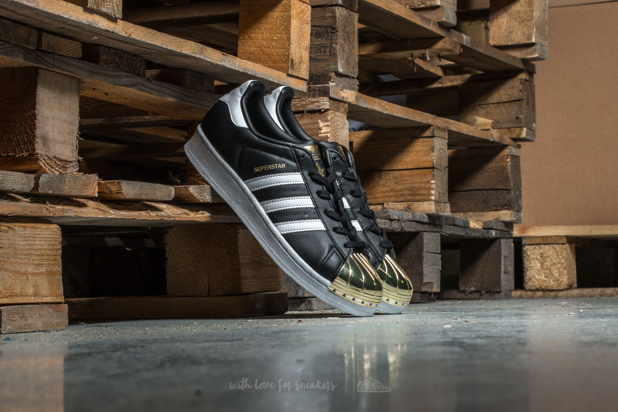 adidas Superstar Metal Toe W Core Black/ Ftw White/ Gold - 12964