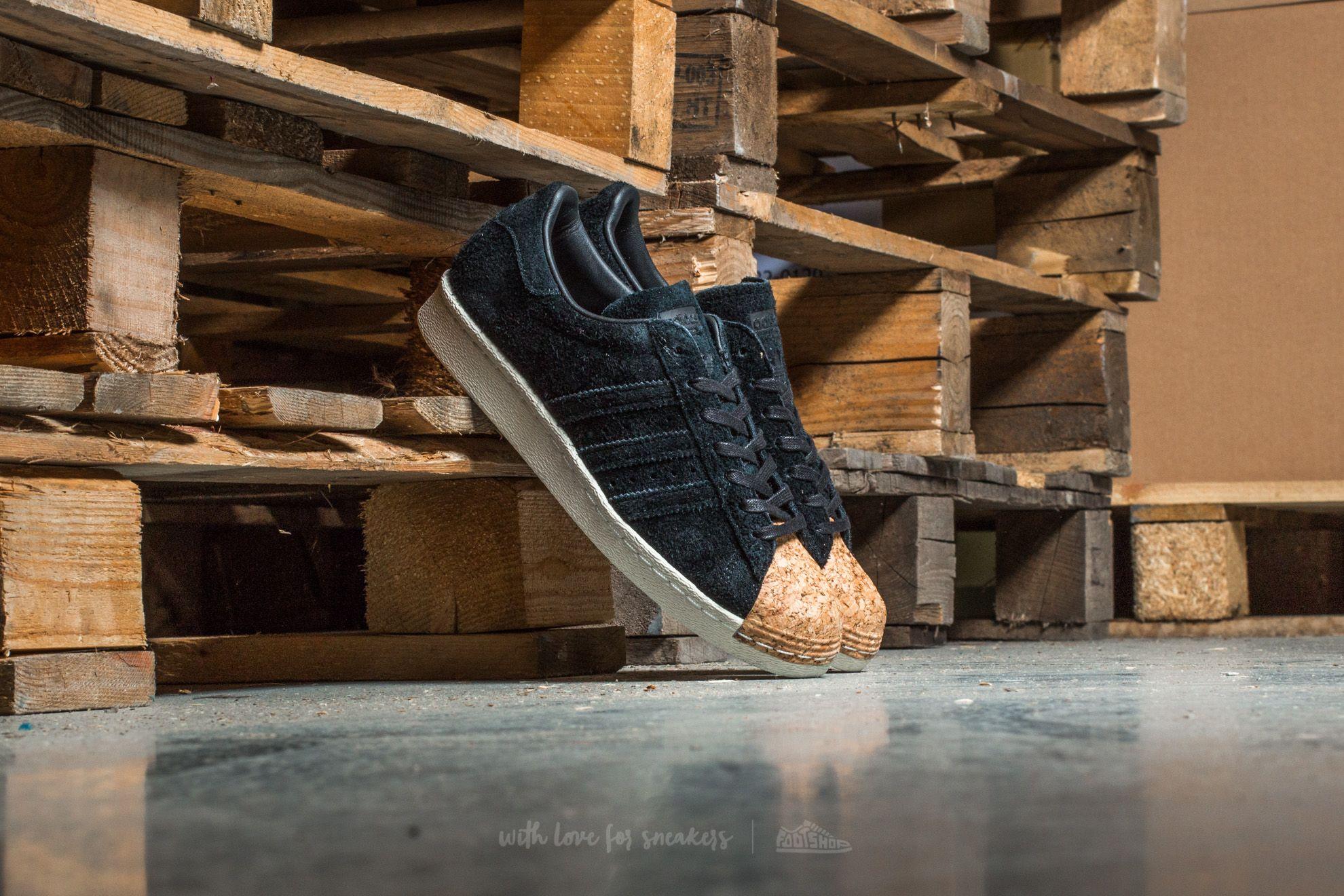adidas Superstar 80s Cork W Core Black/ Core Black/ Off White - 12968