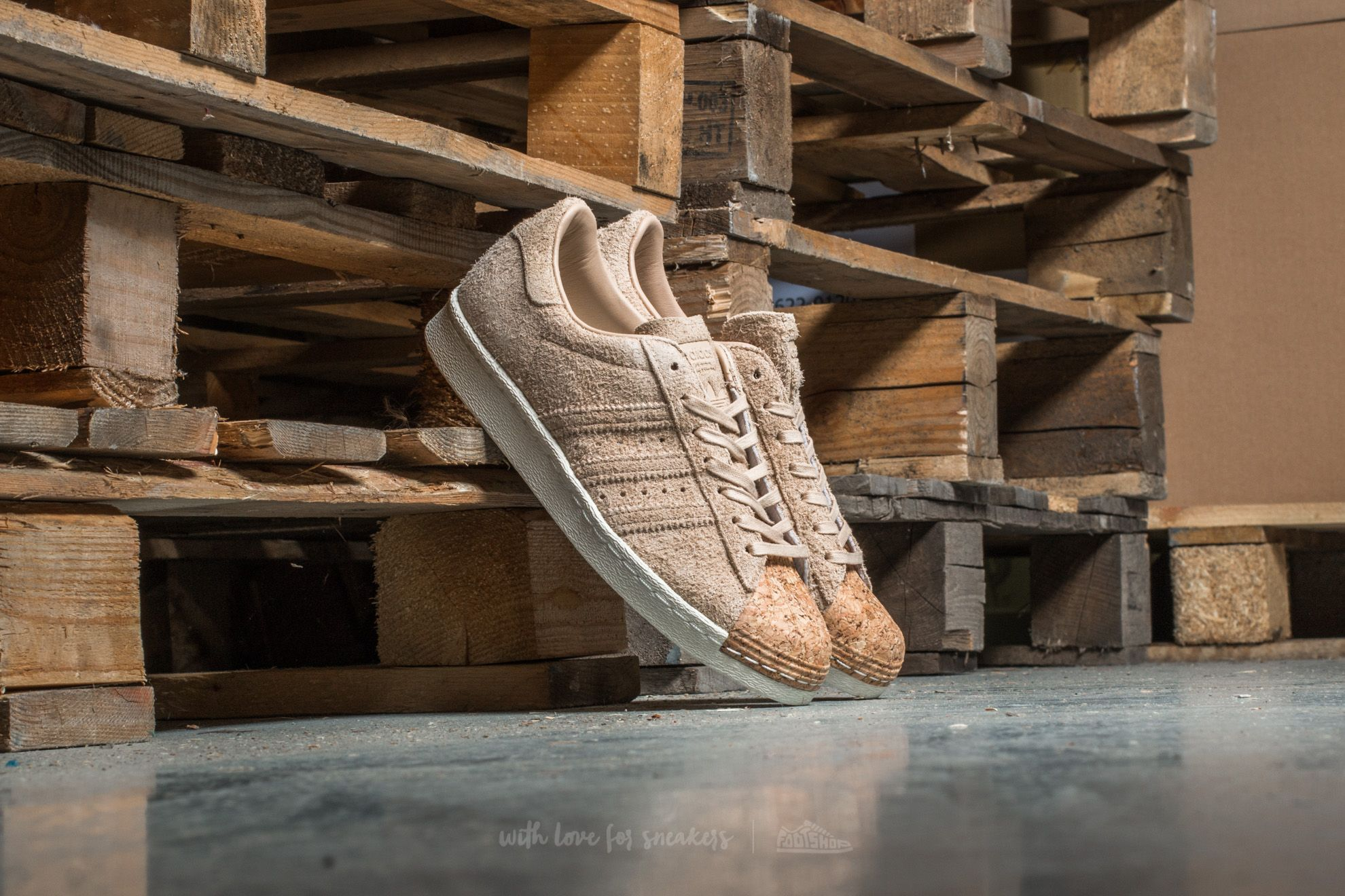 adidas Superstar 80s Cork W Pale Nude/ Pale Nude/ Off White - 12970