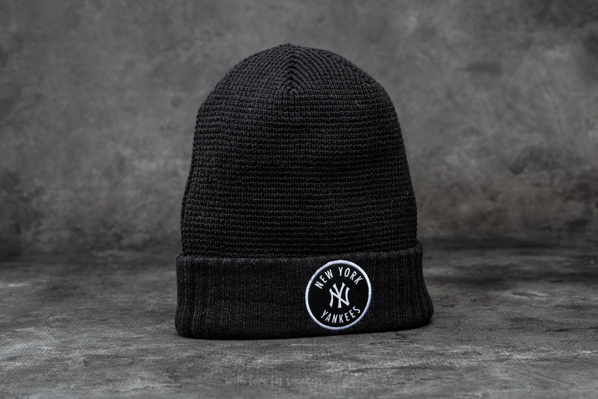New Era Emblem Waffle Knit MLB New York Yankees Black - 12506