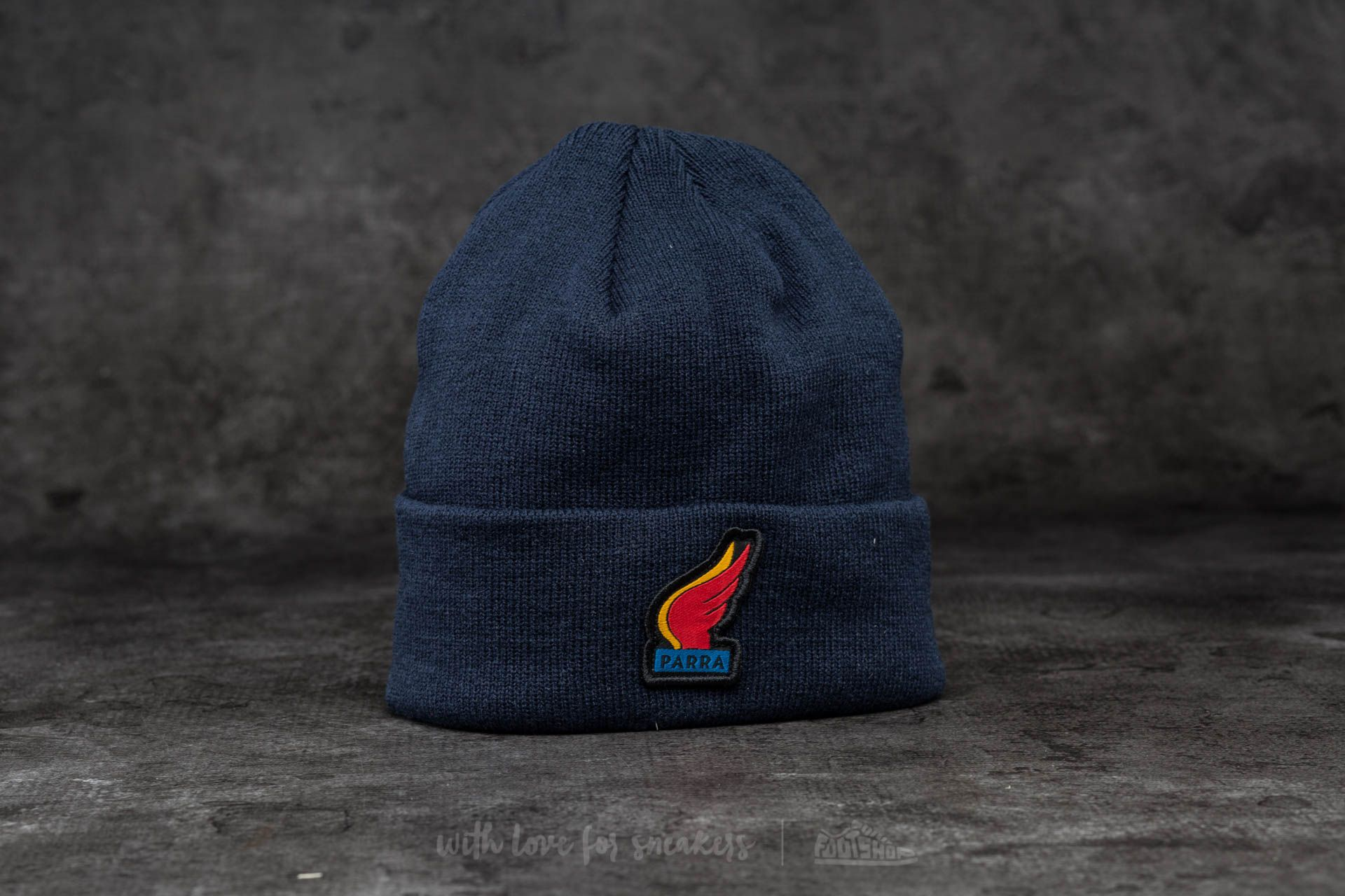 by Parra Wings Beanie Navy Blue - 13688