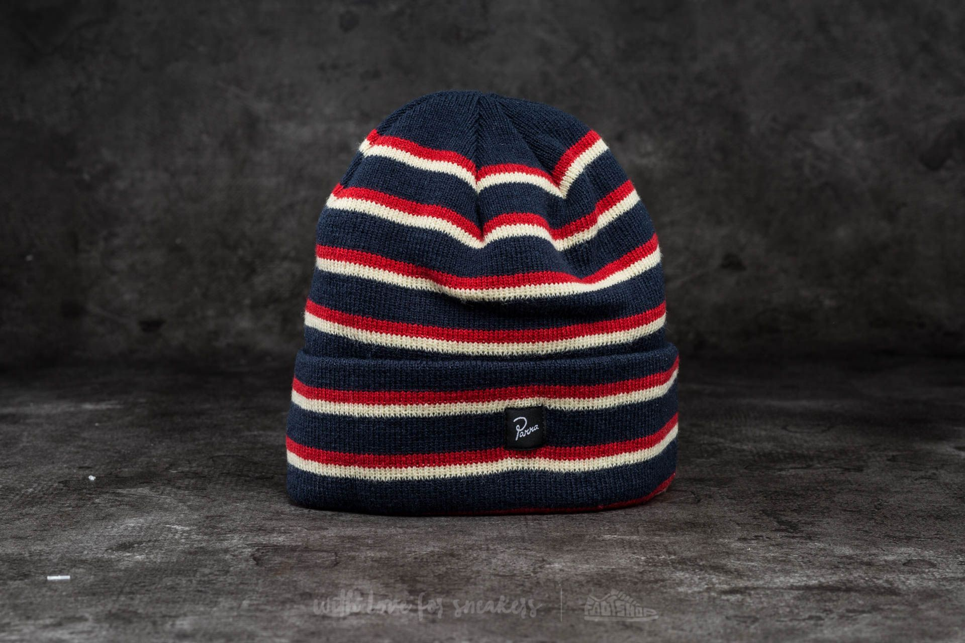 by Parra Stripes Beanie Navy Blue - 13687