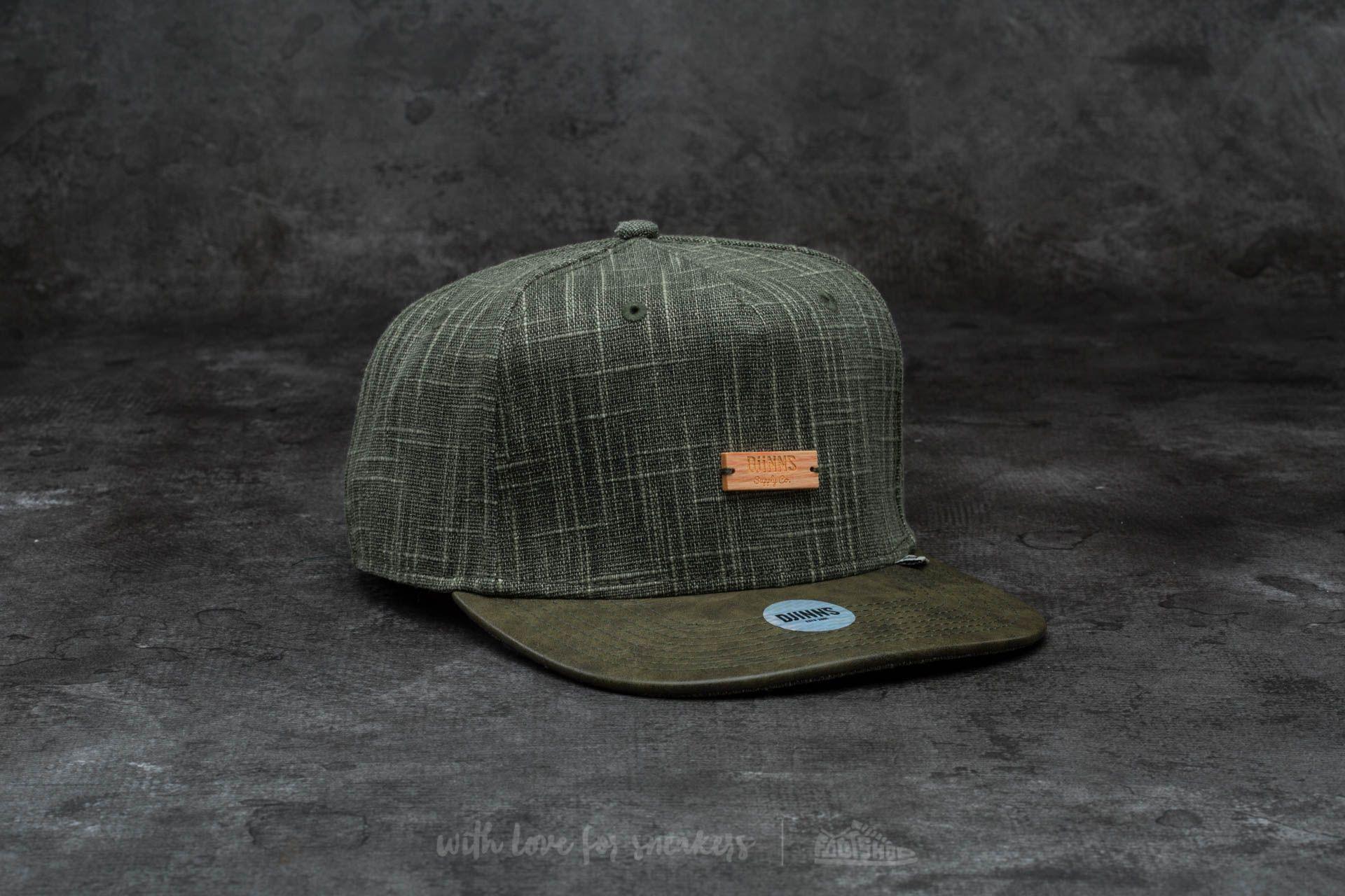 Djinn's 5 Panel Indo Linen Snapback Olive - 13990