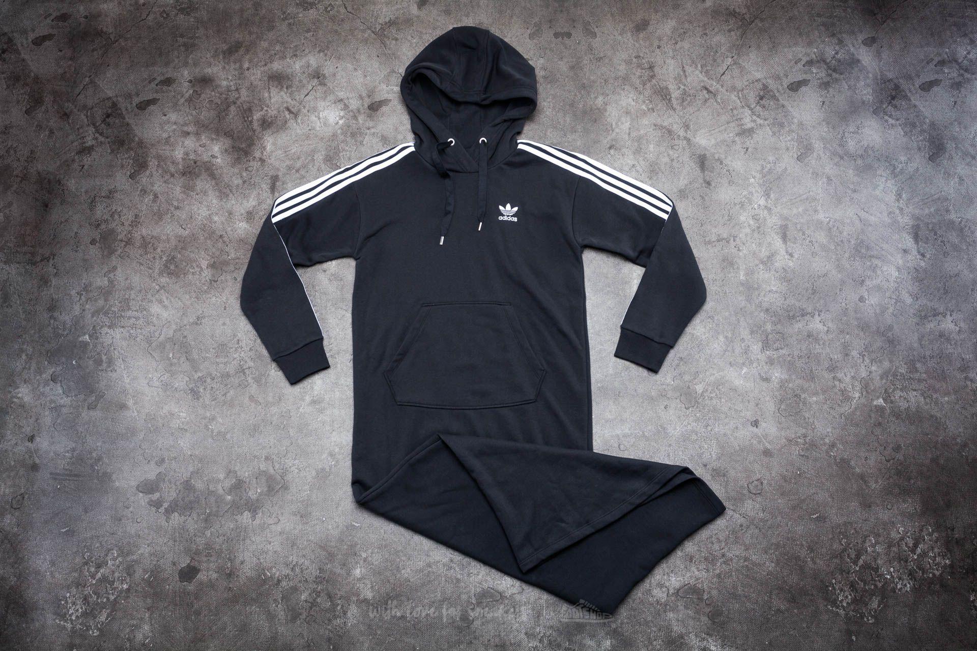adidas 3 Stripes Hoody Dress Black - 14069