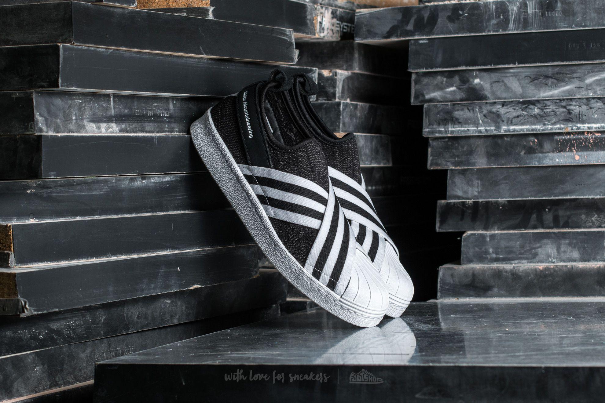 adidas Consortium x White Mountaineering Superstar Slip On Primeknit Core Black/ Footwear White/ Footwear White - 14375