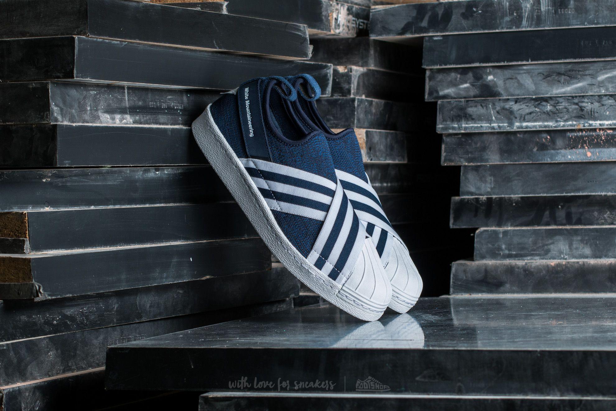adidas Consortium x White Mountaineering Superstar Slip On Primeknit Collegiate Navy/ Footwear White/ Footwear White - 14382