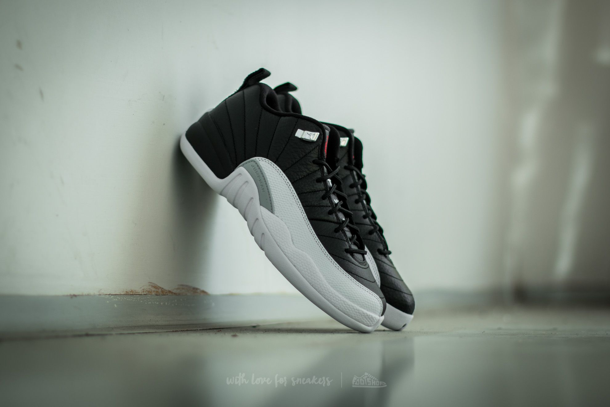 Air Jordan 12 Retro Low BG Black/ Varsity Red-White - 14533