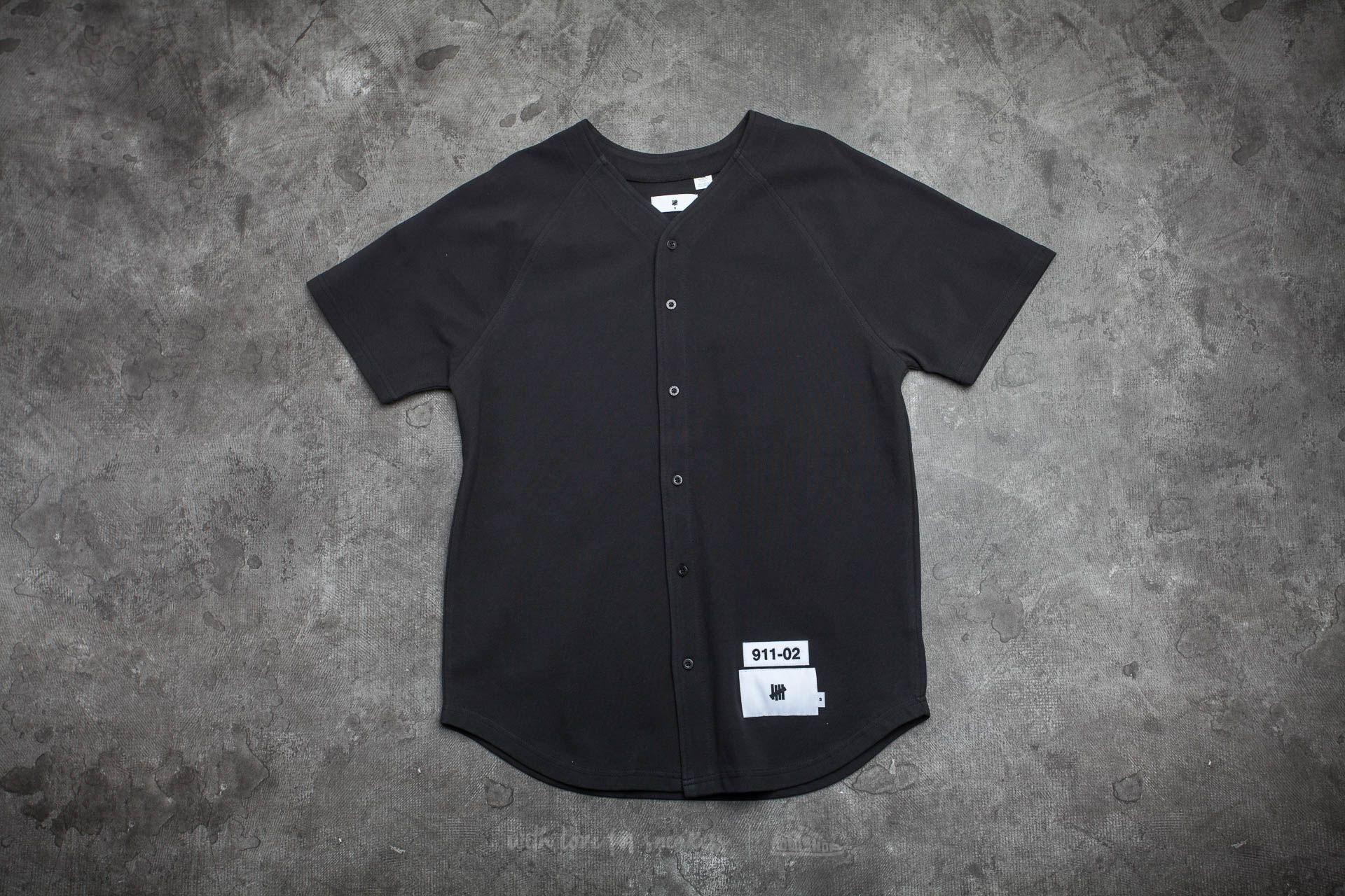 Undefeated Cahill Pique Baseball Jersey Black - 14550