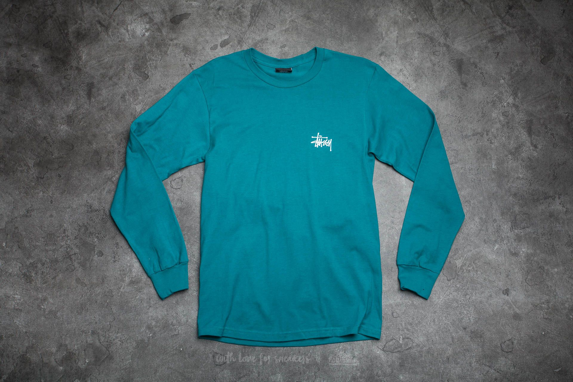 Stüssy Basic Long Sleeve Tee Dark Teal - 14527