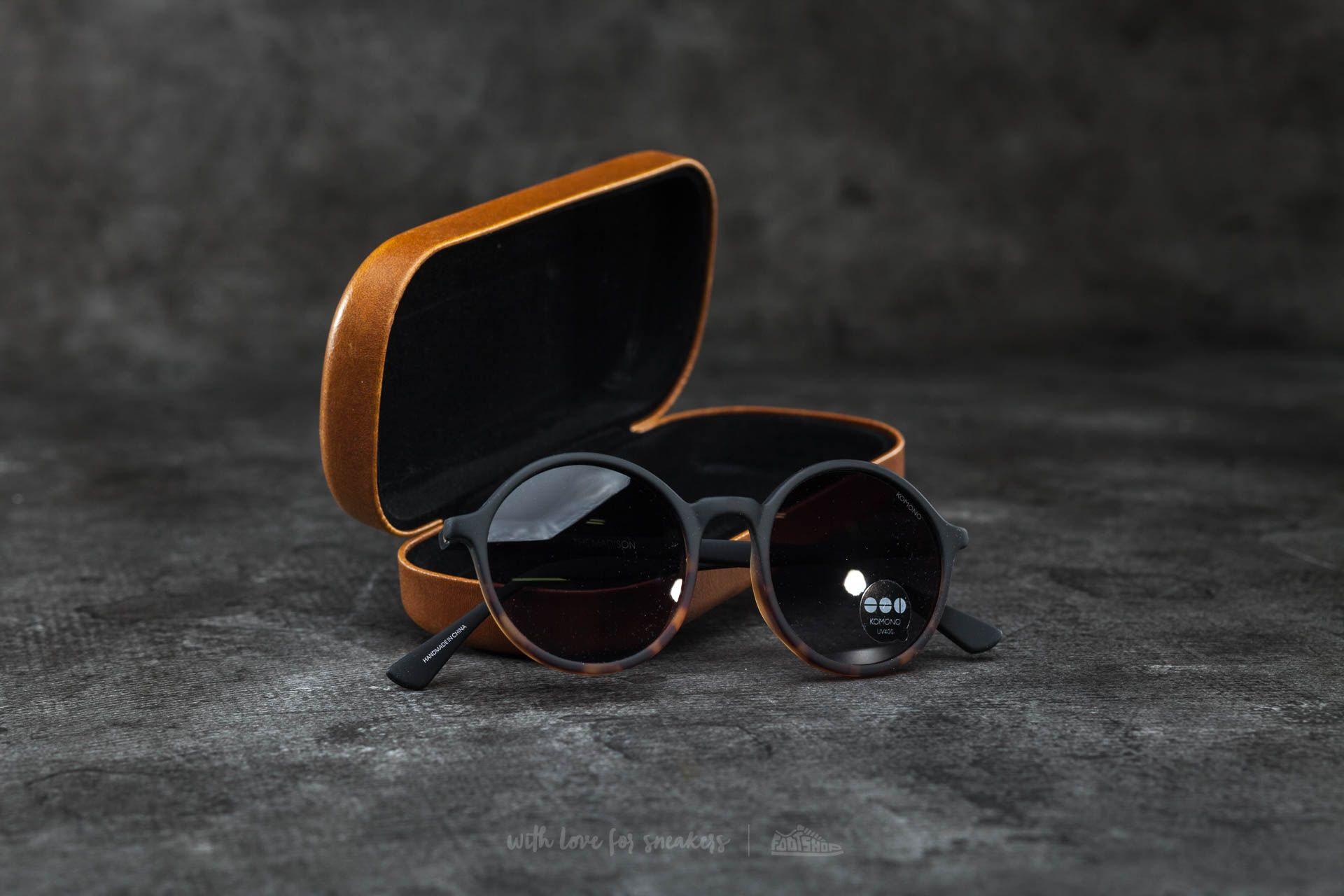 Komono Madison Matte Black-Tortoise - 14561