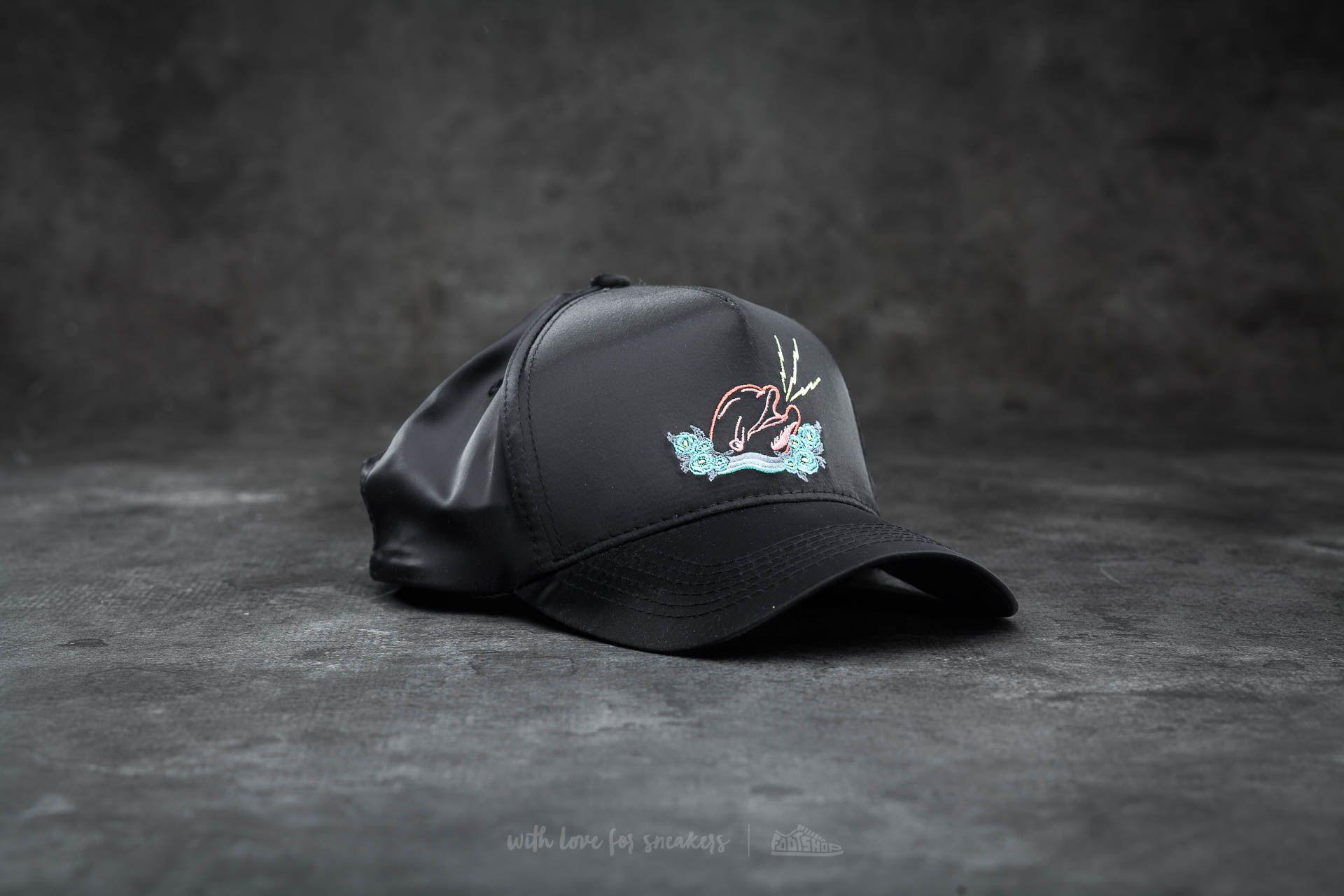 Pink Dolphin Souvenir Satin Snapback Black - 14910