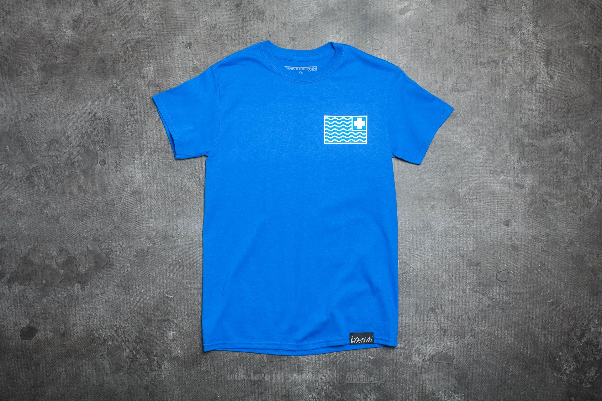 Pink Dolphin Flag Tee Blue - 14919
