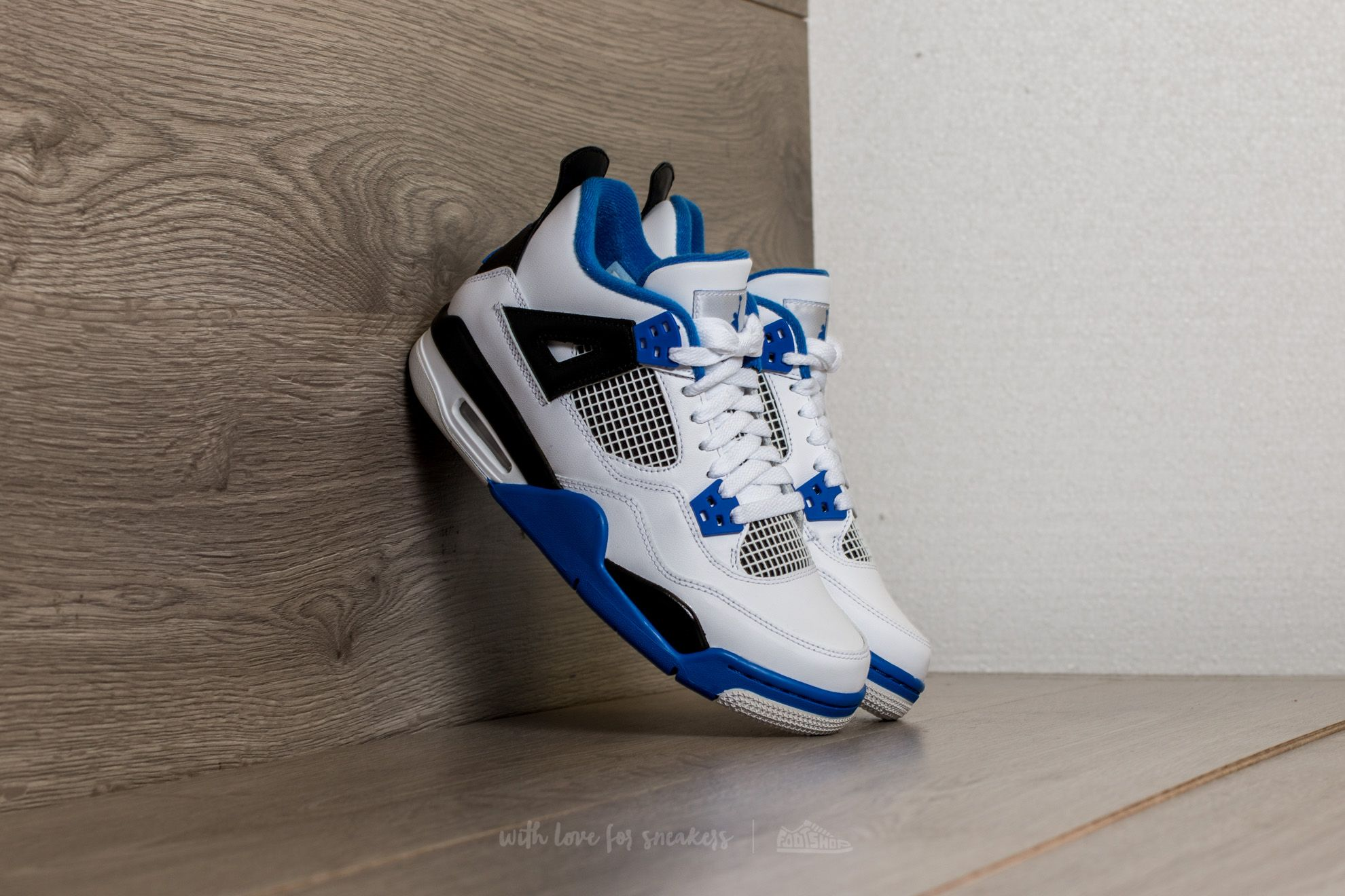 Air Jordan 4 Retro BG White/ Game Royal-Black - 15052