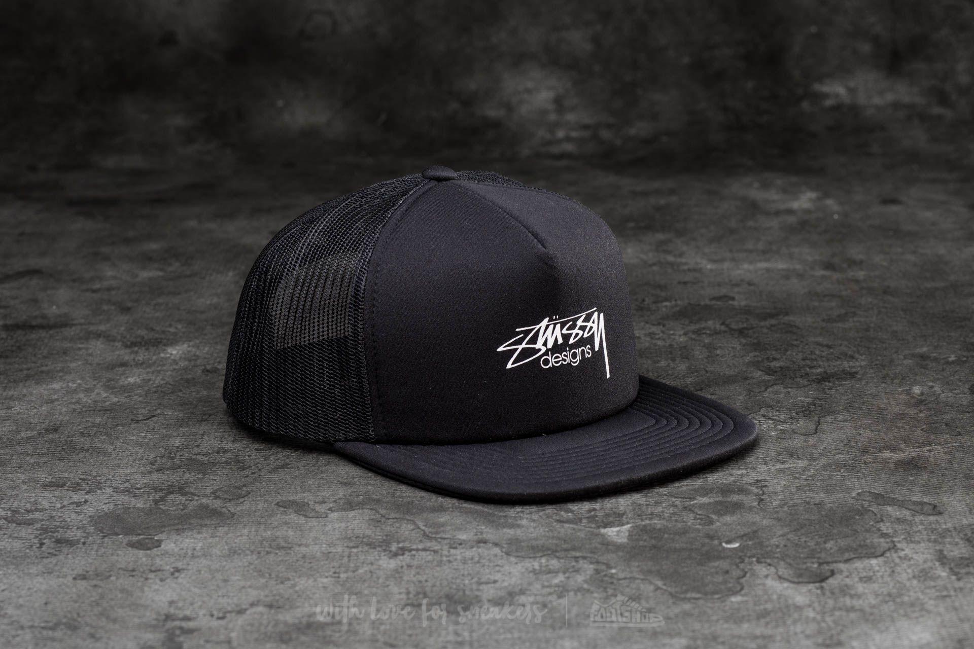 Stüssy Smooth Stock Trucker Cap Black - 15028