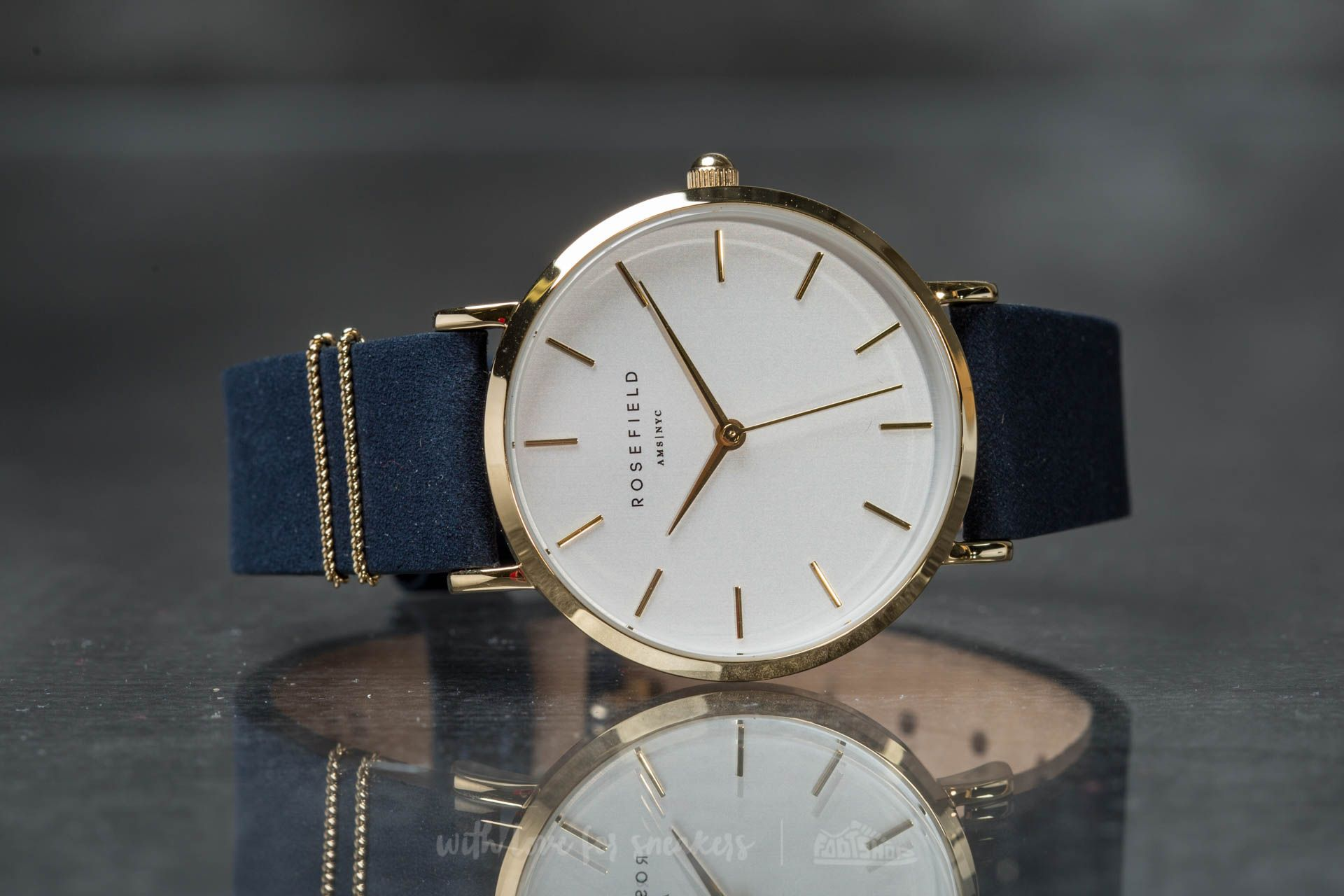 Rosefield The West Village Gold White/ Blue - 15186
