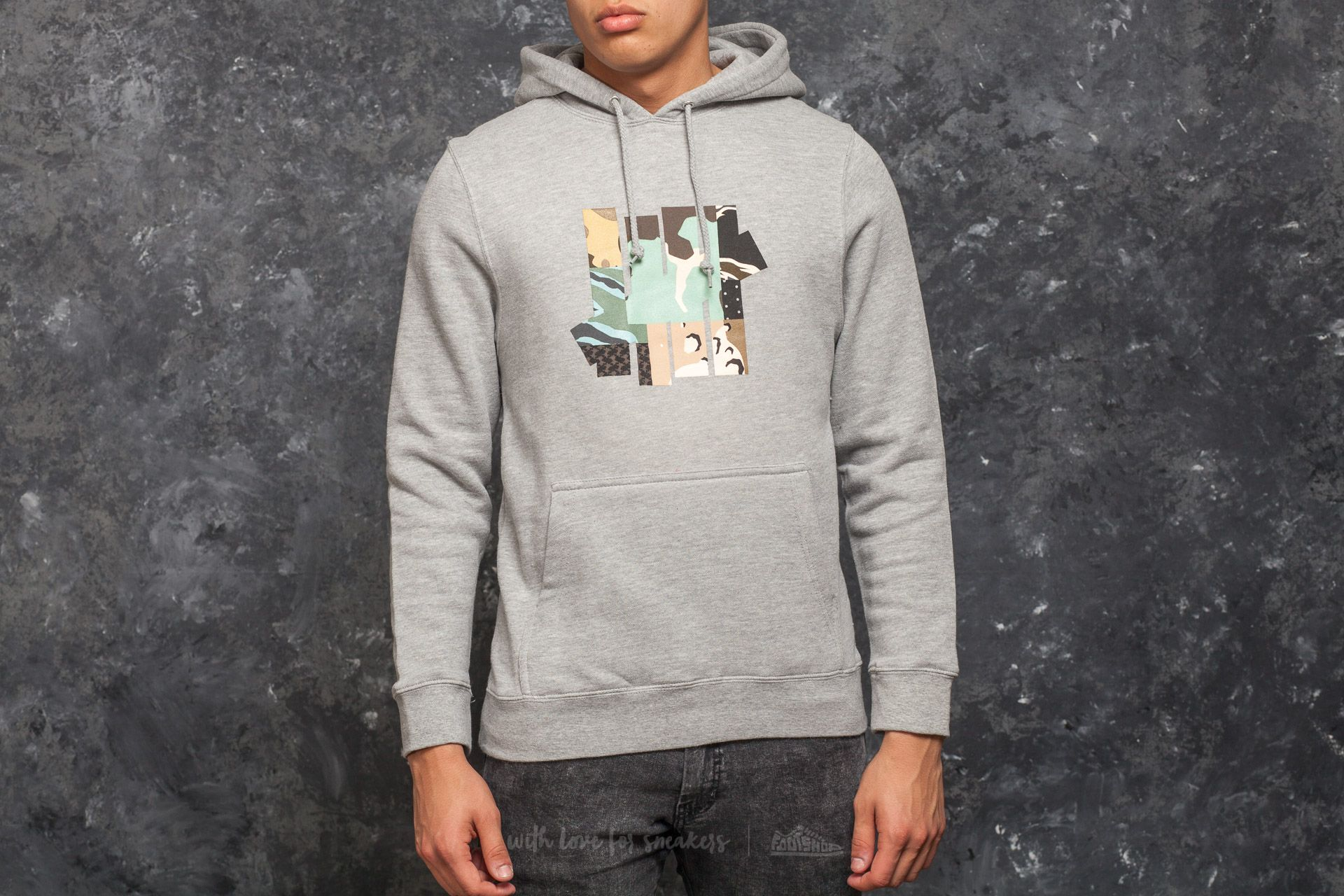 Undefeated Patchwork Strike Hood Grey Heather - 15024