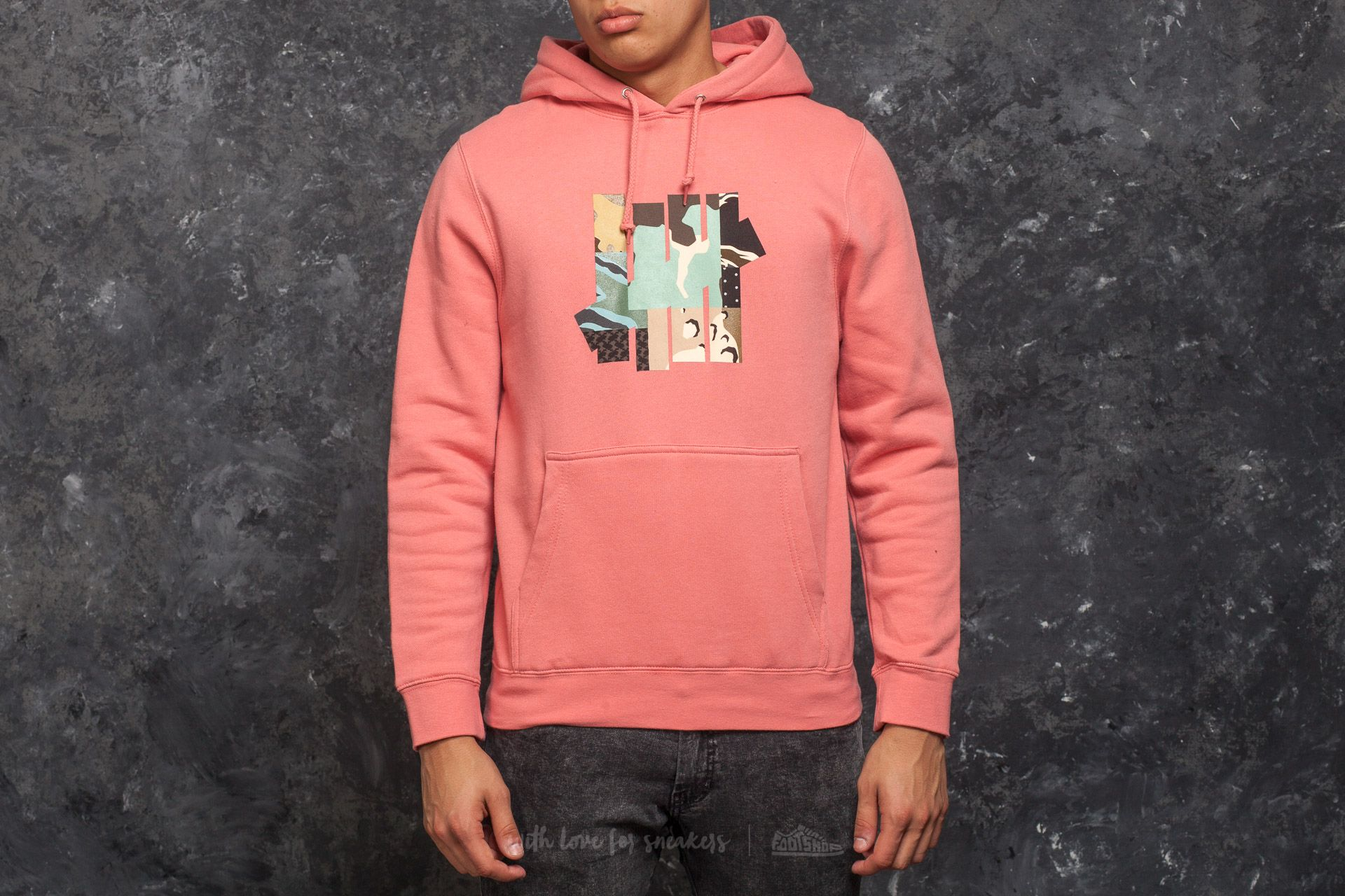 Undefeated Patchwork Strike Hood Coral - 15022