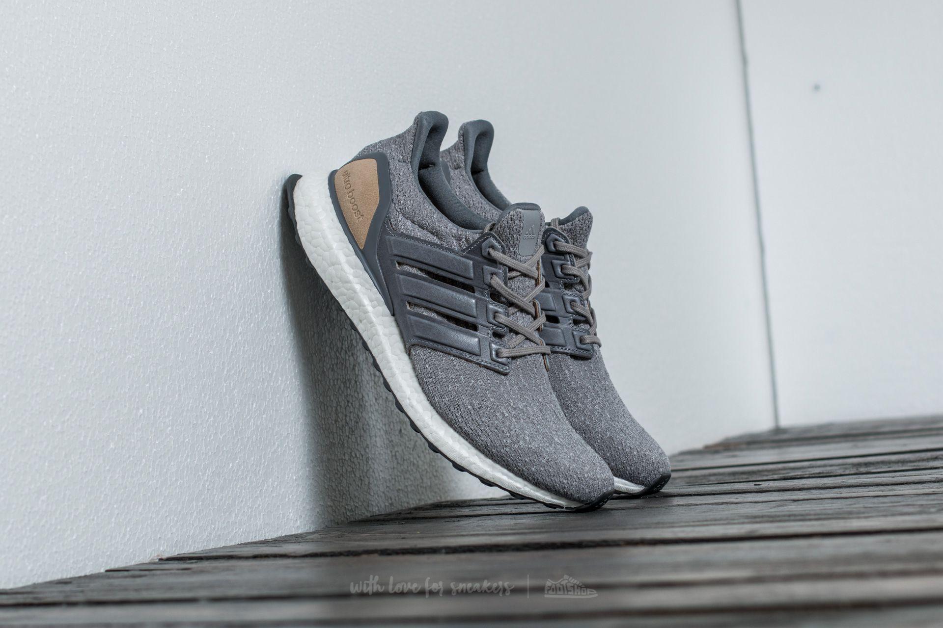 adidas Ultra Boost LTD Mid Grey/ Linen Khaki - 15457