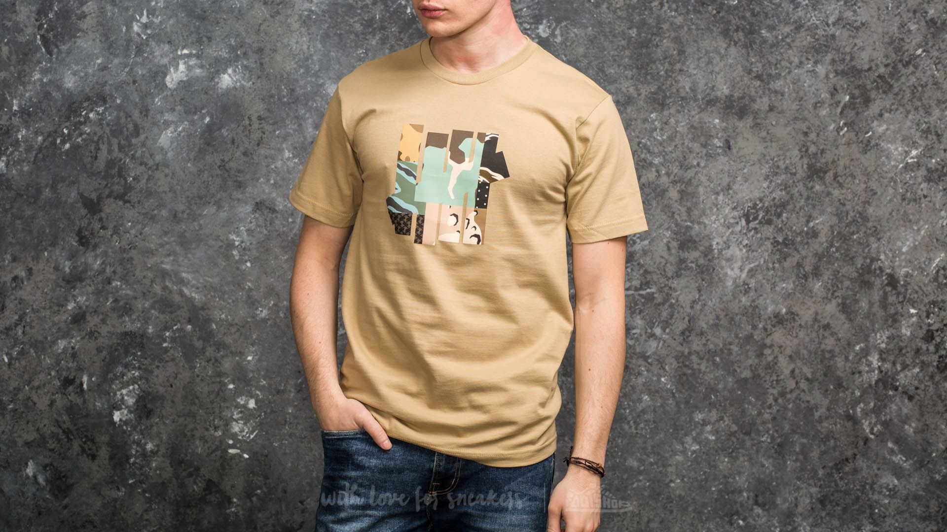 Undefeated Patchwork Strike Tee Tan - 15015