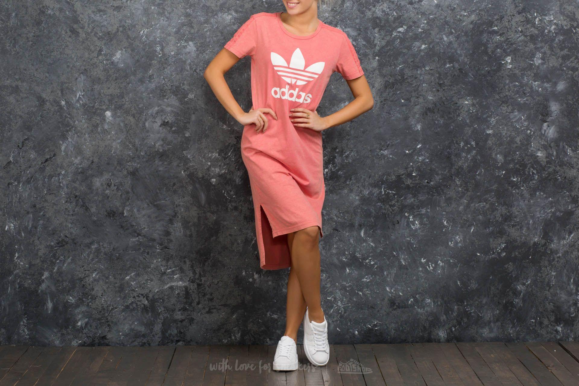 adidas Ocean Elements Tee Dress Pink - 15306