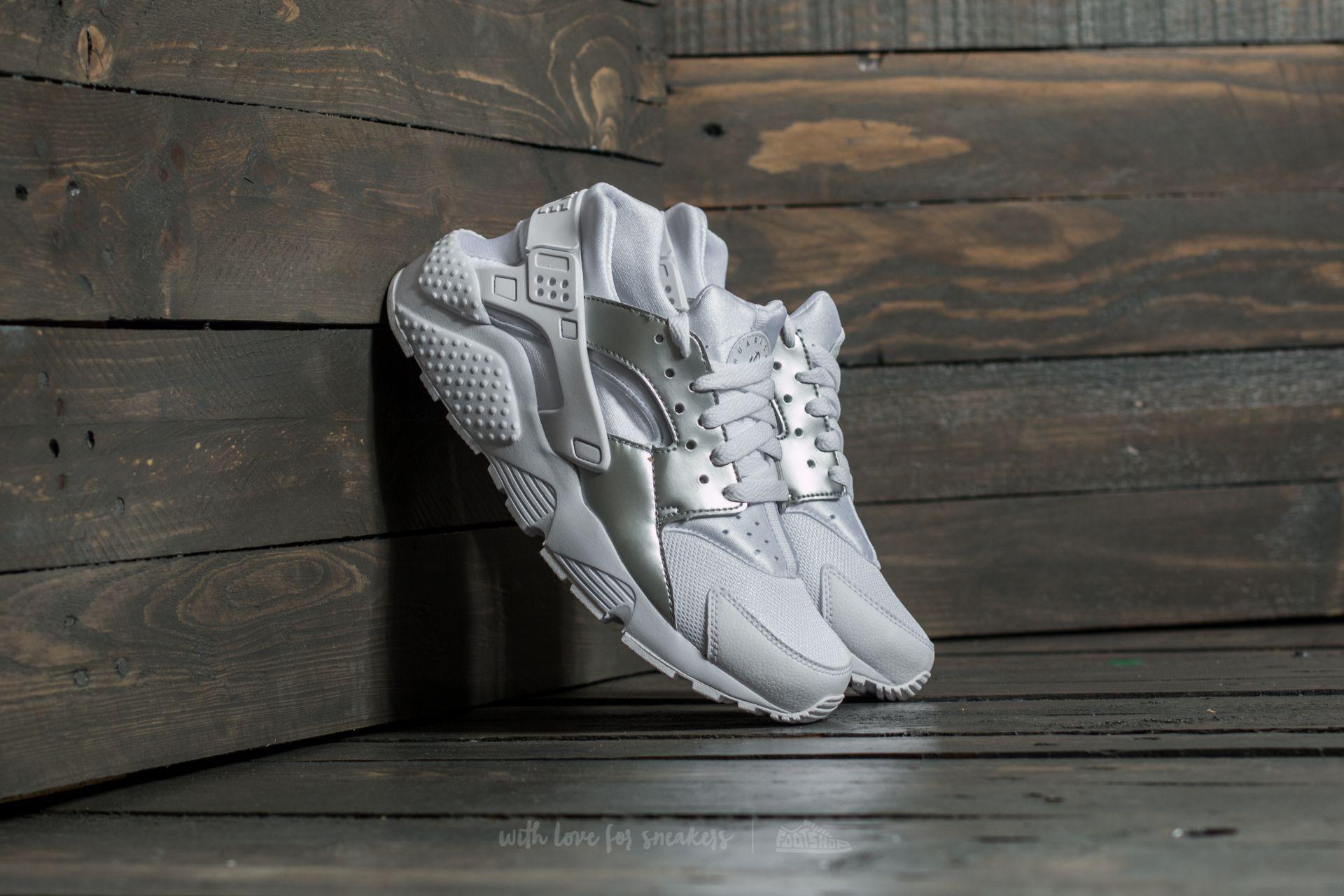 Nike Huarache Run (GS) White/ Metallic Silver - 16106