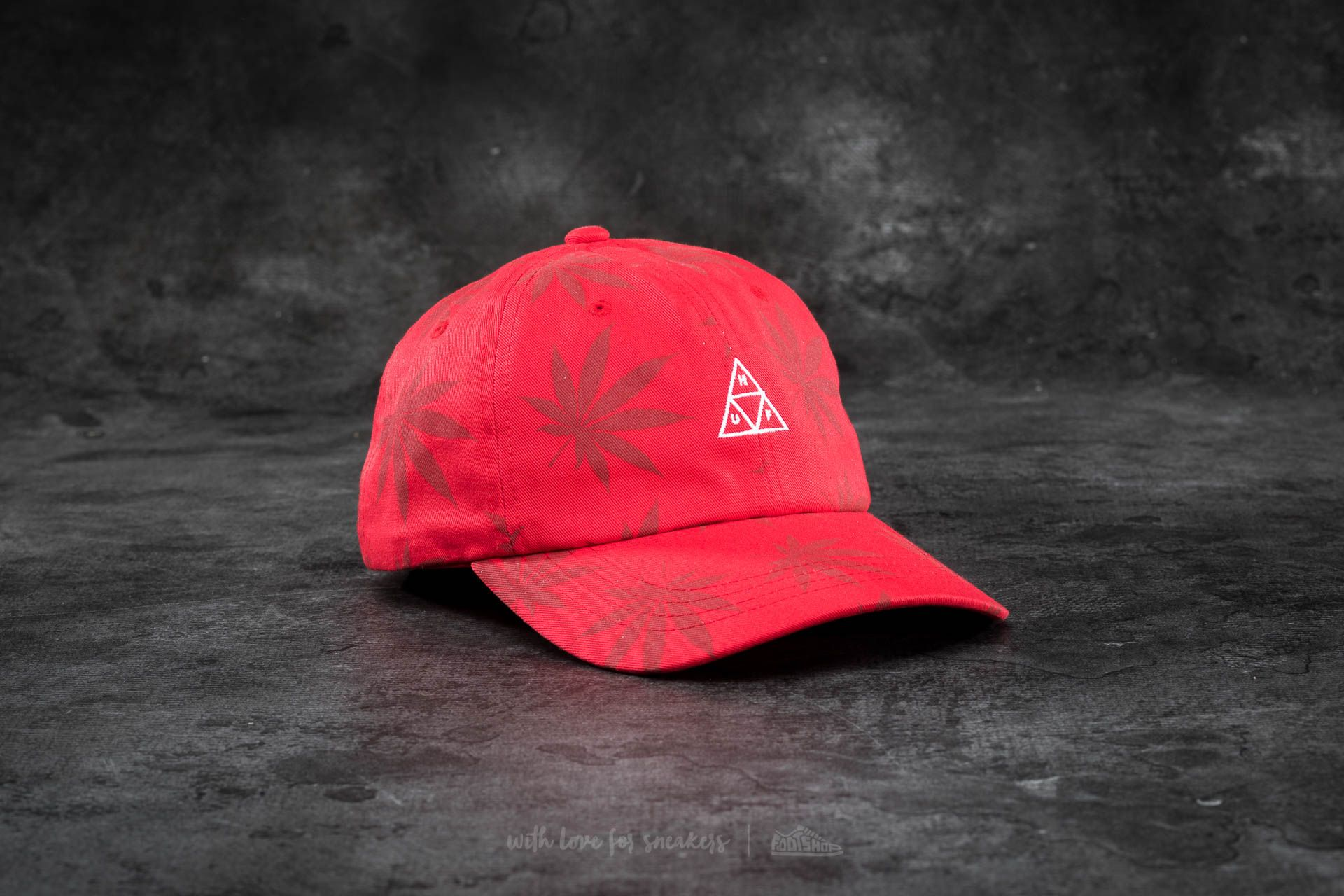 HUF Apparel 420 Triple Triangle Dad Hat Red - 16393