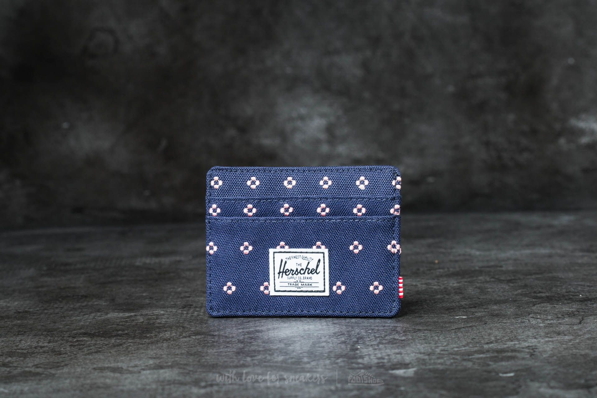 Herschel Supply Co. Charlie + Wallet Peacot/ Apricot Blush Dots - 16554