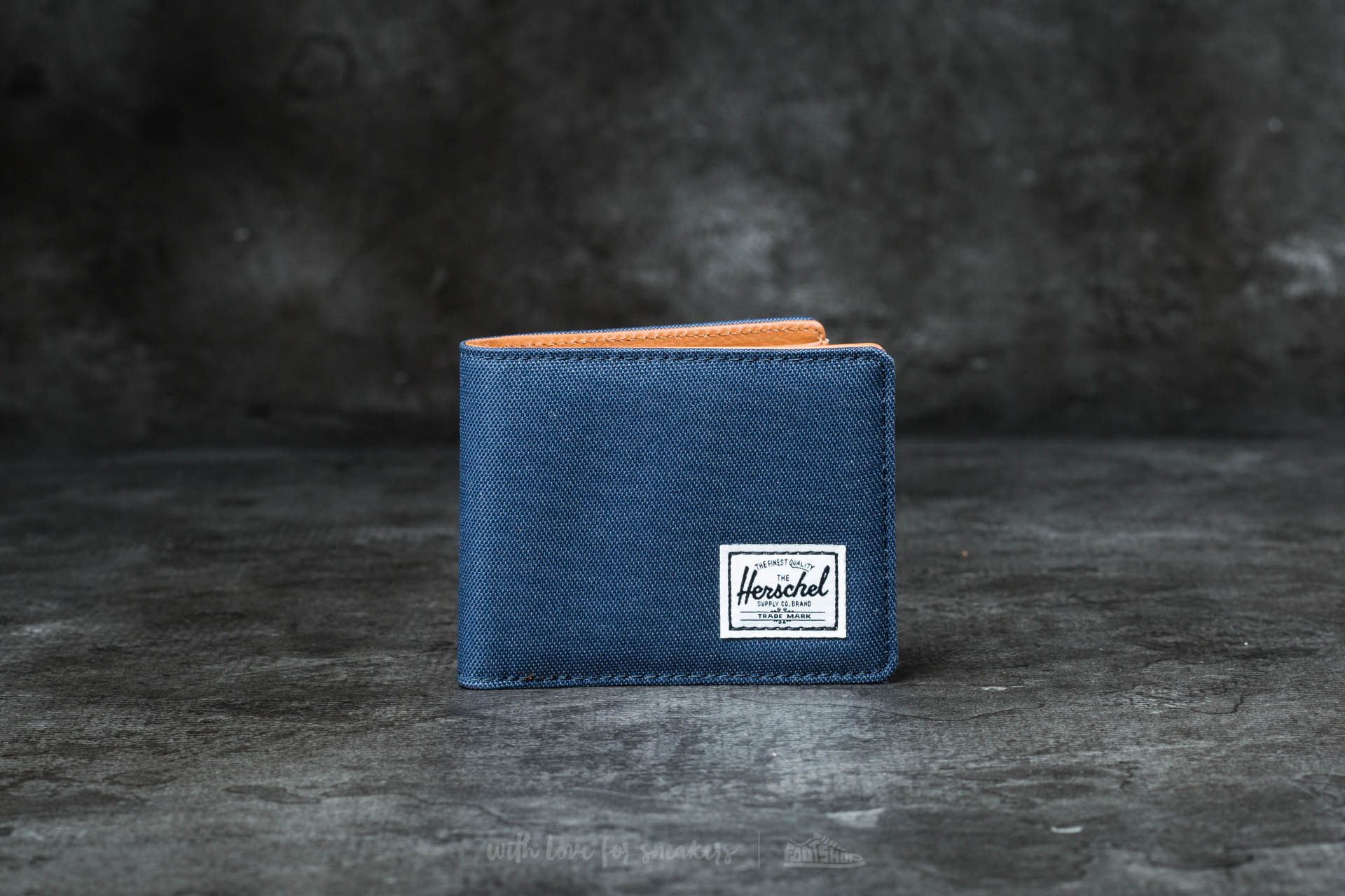 Herschel Supply Co. Hank + Wallet Navy/ Tan Synthetic Leather - 16563