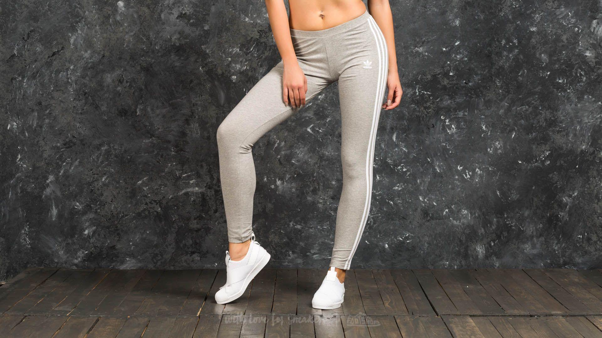adidas 3 Stripes Leggings Medium Grey Heather - 16763