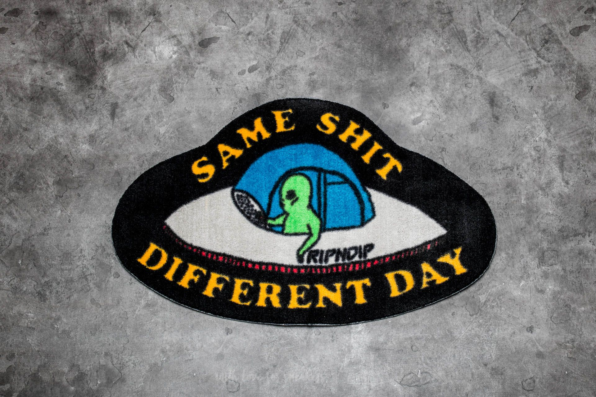 RIPNDIP Same Shit Different Day Rug Black - 17054