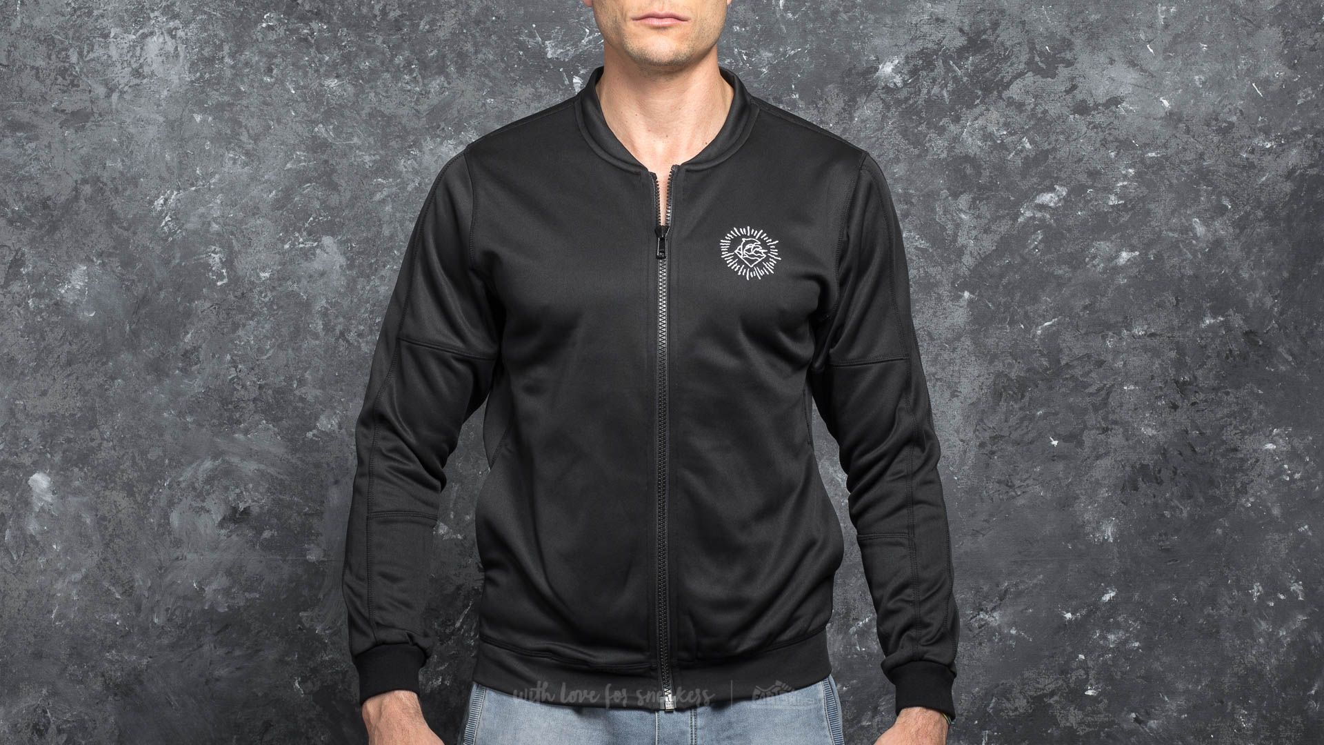 Pink Dolphin Wave Performance Jacket Black - 17112