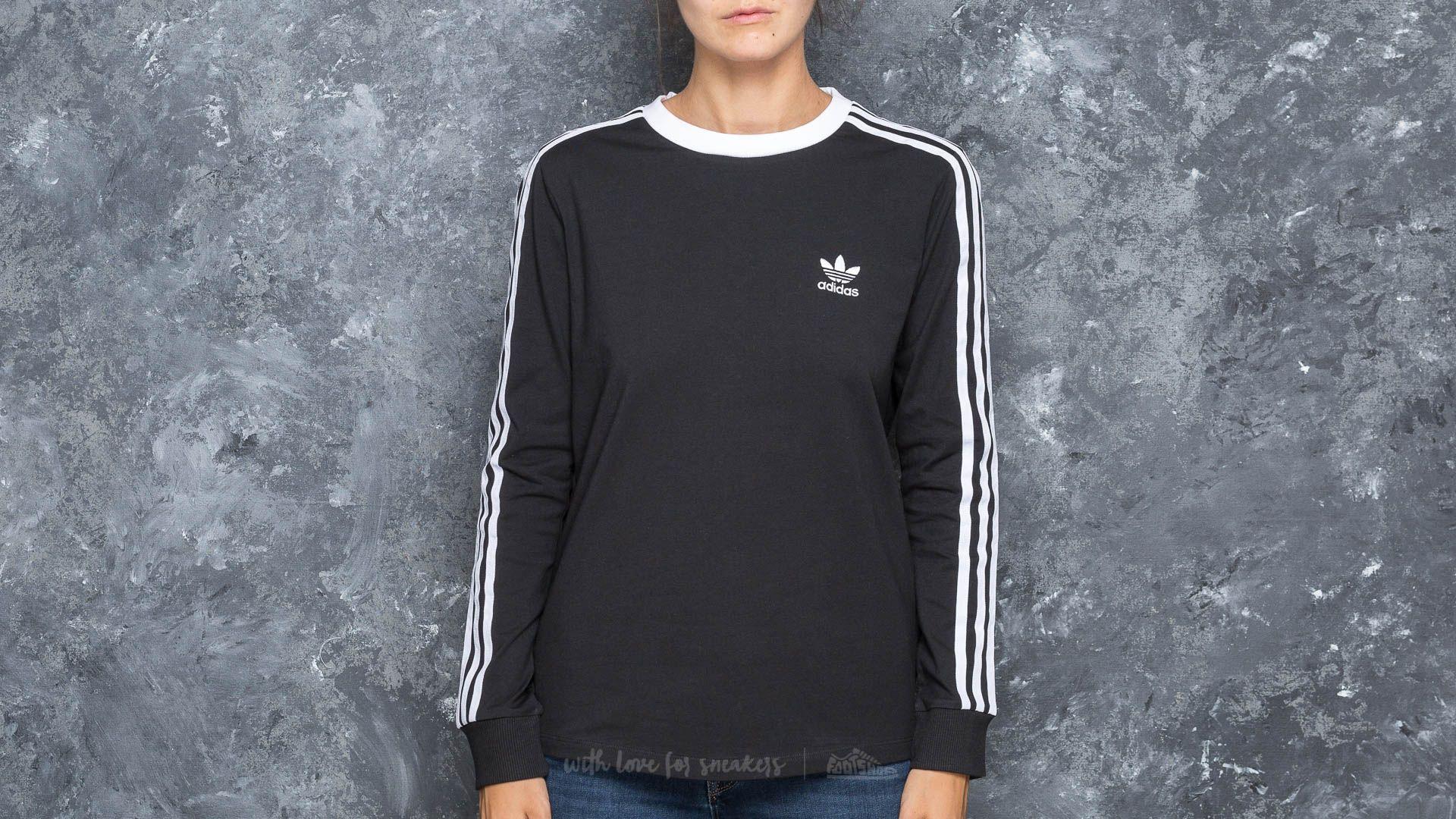 adidas 3 Stripes Longsleeve Tee Black - 16815