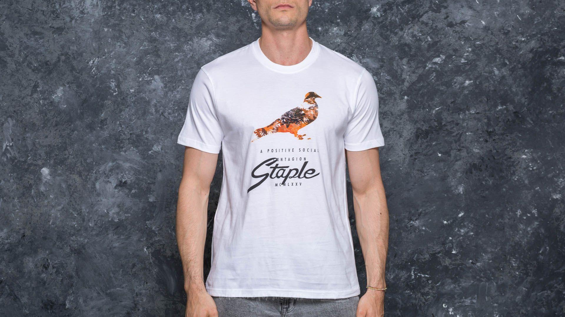 Staple Safari Pigeon Tee White - 17318