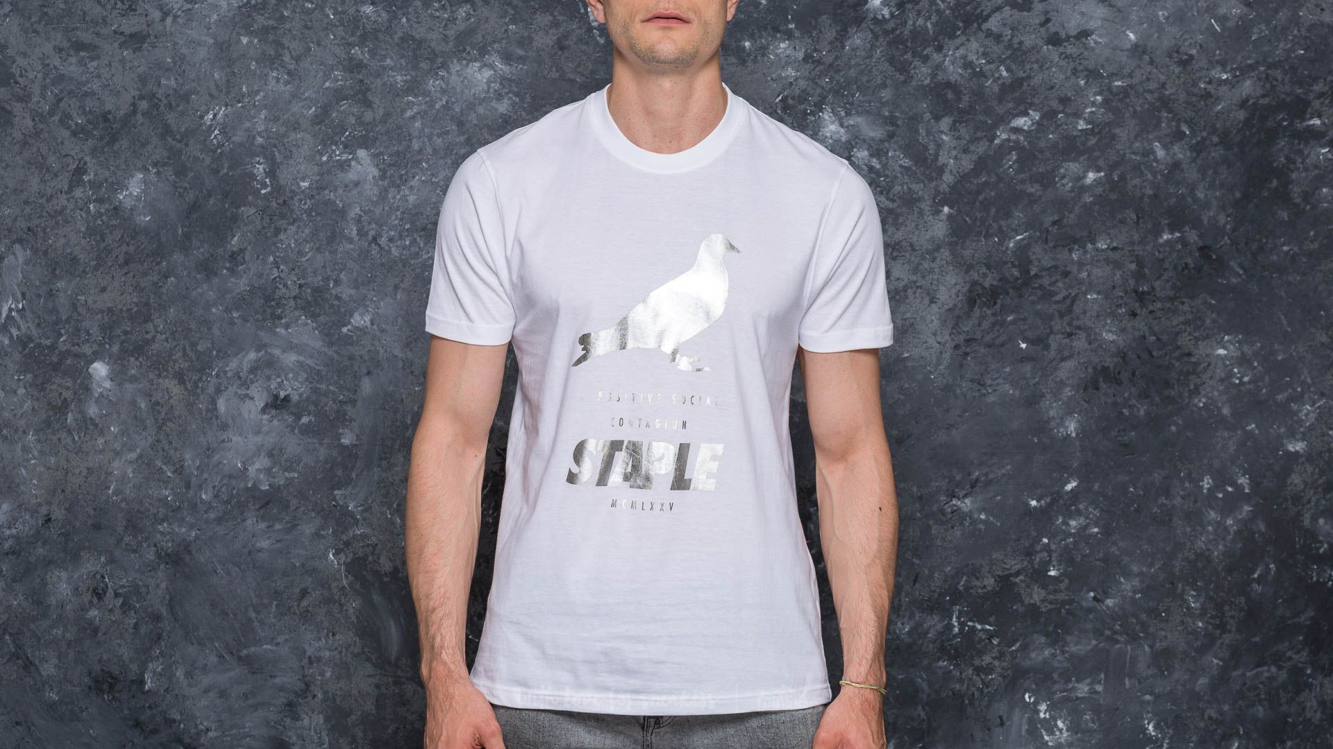 Staple Foil Pigeon Tee Silver - 17315