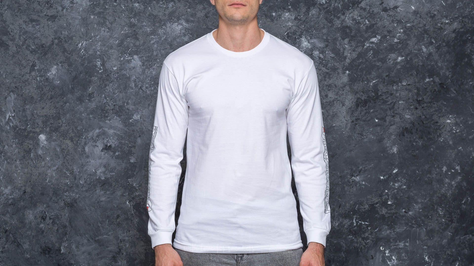 Undefeated Aircraft Longsleeve Tee White - 17202