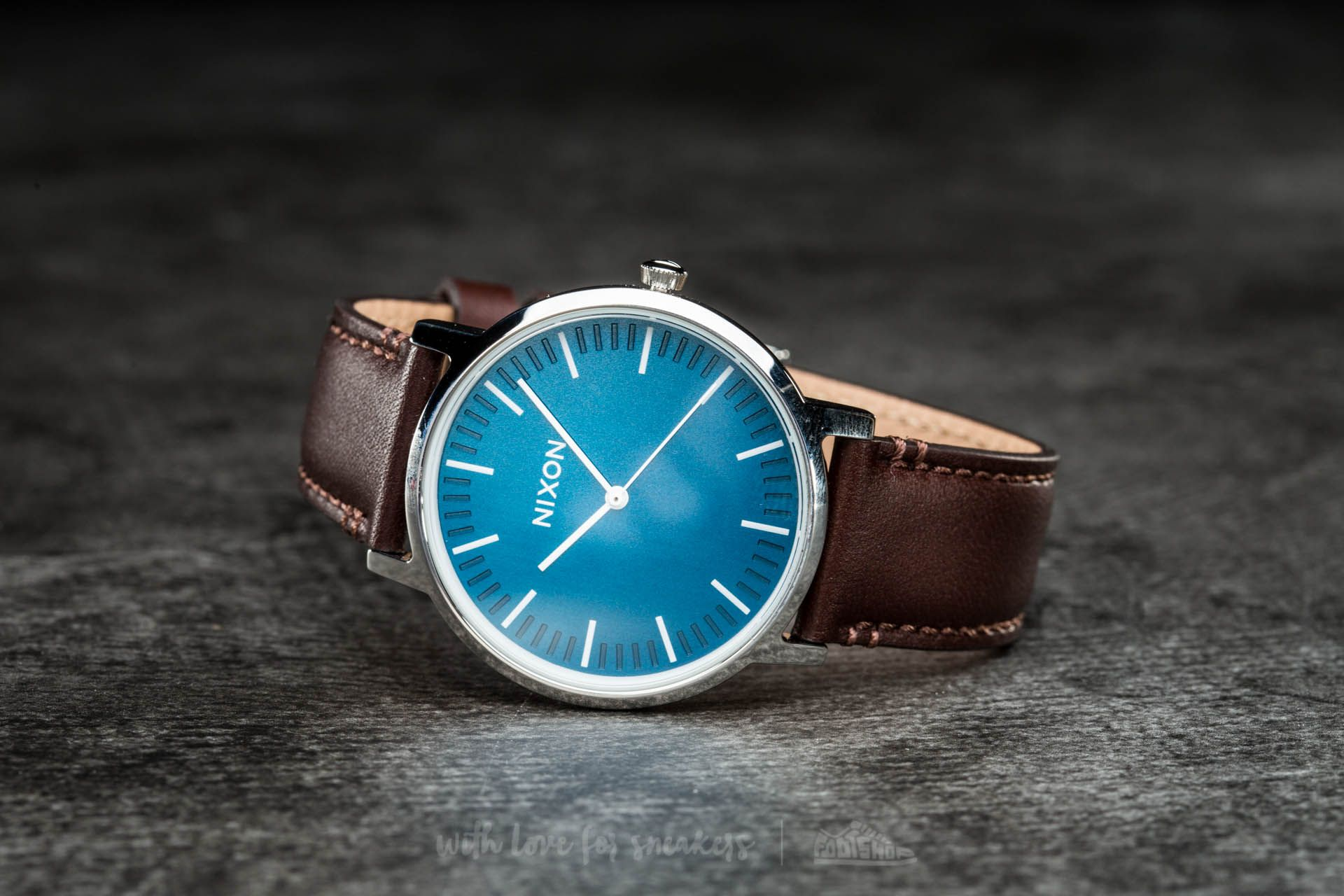 Nixon Porter Leather Navy/ Brown - 17375