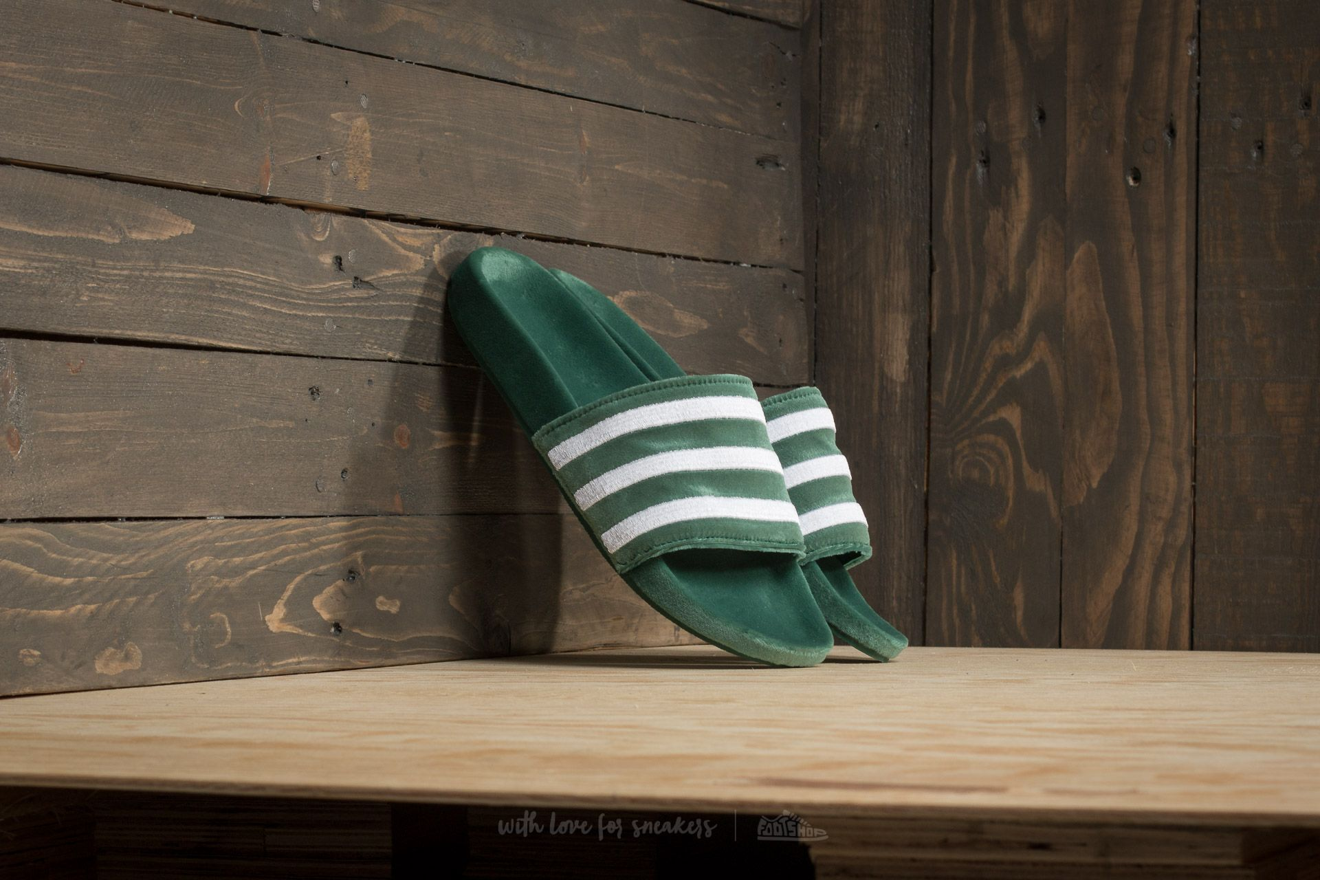 adidas Adilette Core Green/ Ftw White/ Ftw White - 17479